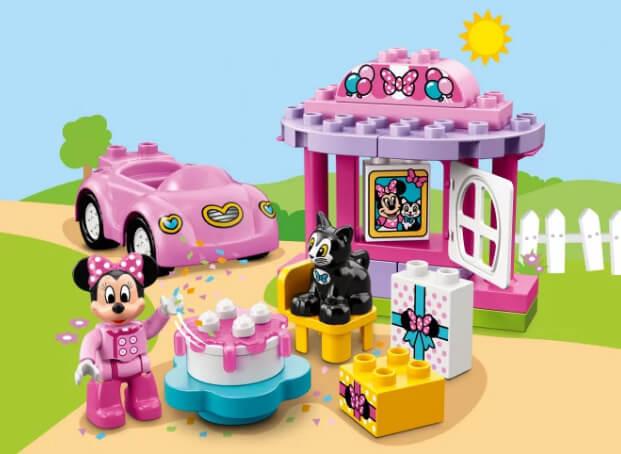 Лего DUPLO 10873 Дисней «День рождения Минни» Подарки на Новый год для девочек