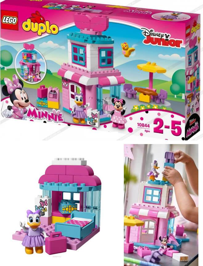 LEGO DUPLO Disney Junior 10844 Магазинчик Минни Маус Конструктор, Подарки на Новый год для девочек
