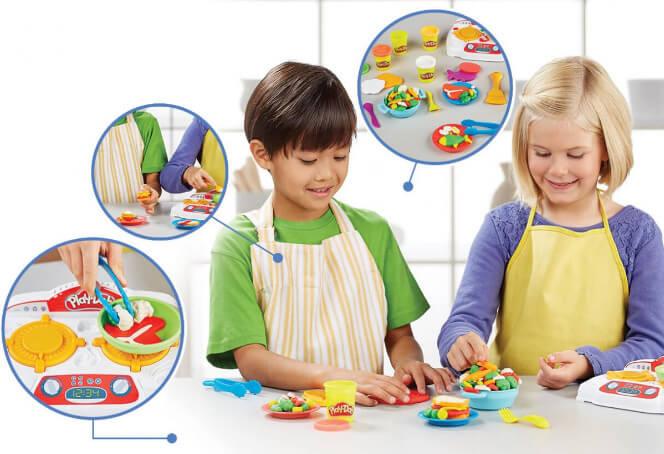 """Игровой набор """"Кухонная плита"""" со звуком Hasbro Play-doh B9014 Подарки на Новый год для девочек"""