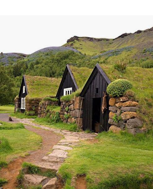 Торфяные дома, Исландия