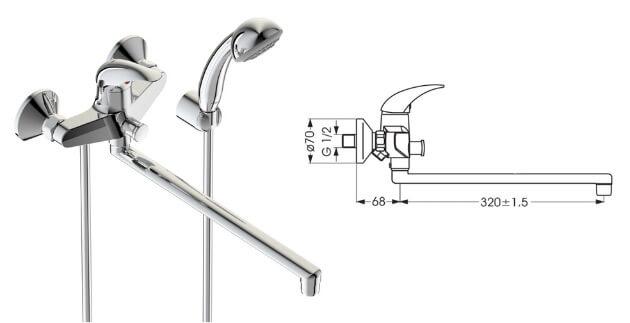 VIDIMA Орион B4225AA/BA005AA, Лучшие смесители для ванной комнаты.