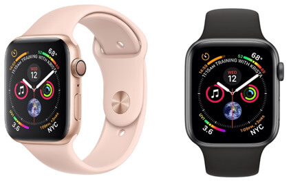 Apple Watch Series 44mm Aluminum Case with Sport Band, Лучшие смарт часы 2019