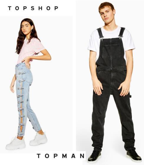 TOPSHOP и TOP MAN Лучшие джинсы