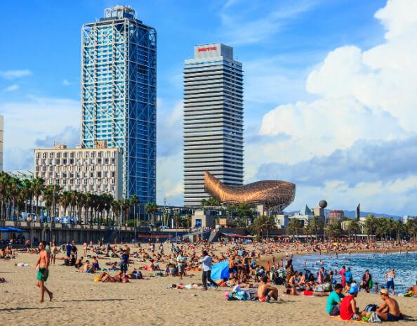 Центральный пляж Барселоны, Самые красивые города Испании