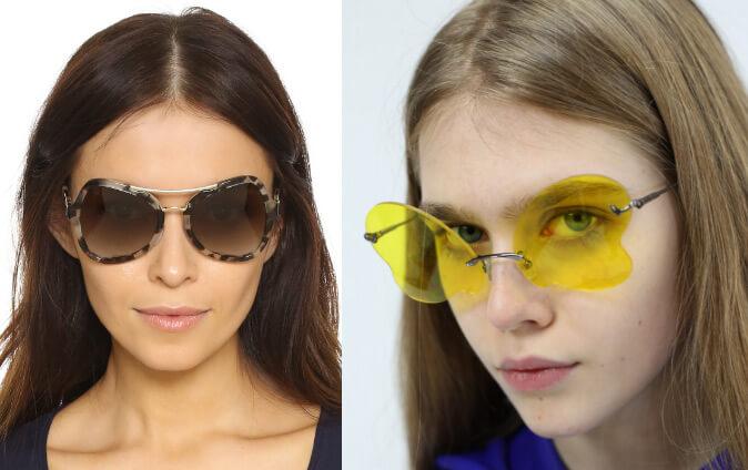 Очки «бабочки», Cолнцезащитные очки модные в 2019