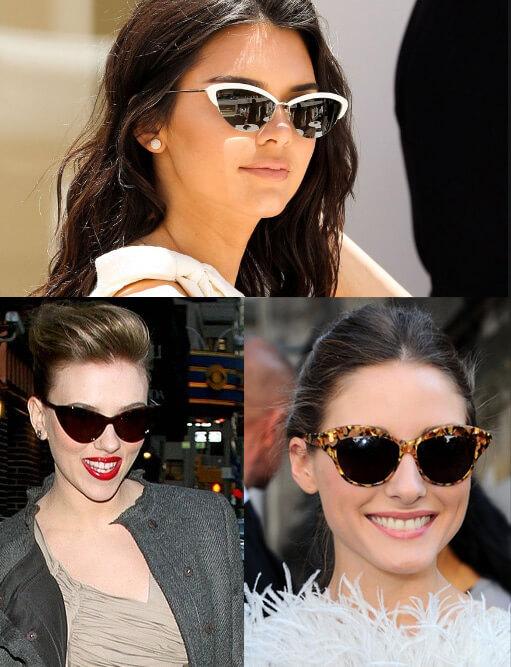 Очки «Кошачий глаз» /Cat eye sunglasses, Cолнцезащитные очки модные в 2019