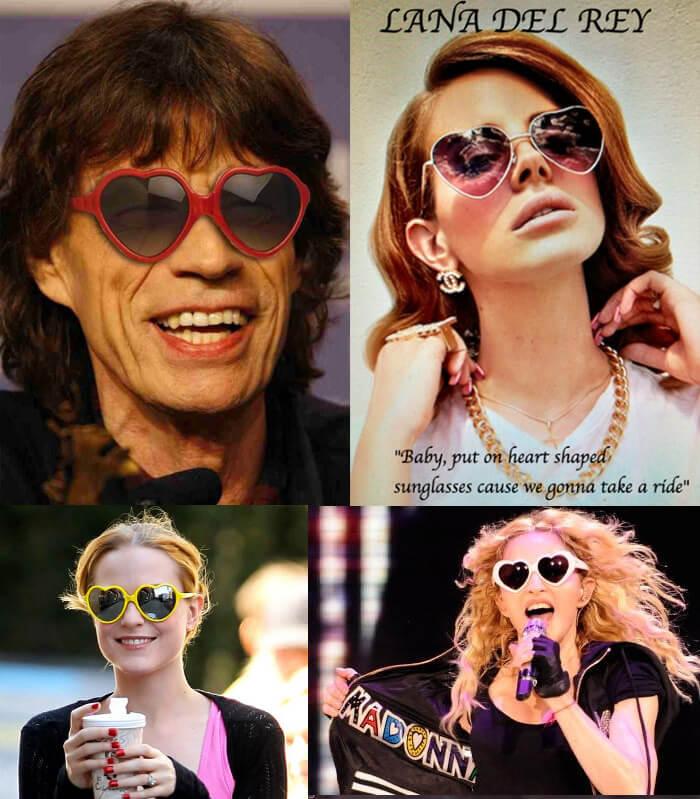 Очки в форме сердца, Cолнцезащитные очки модные в 2019