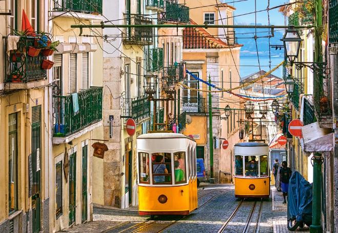 Улицы Лиссабона, красивые города Португалии