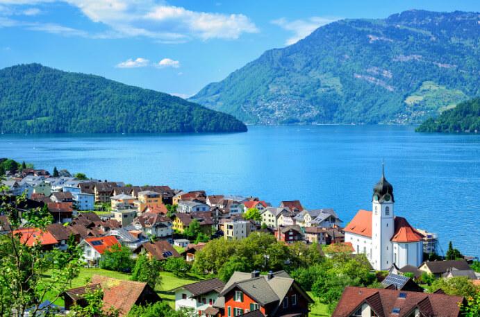 Lake Lucerne / Люцернское озеро, Швейцария, Озера Европы