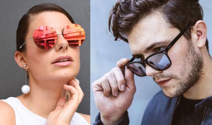 Очки с зеркальными линзами, Cолнцезащитные очки модные в 2019