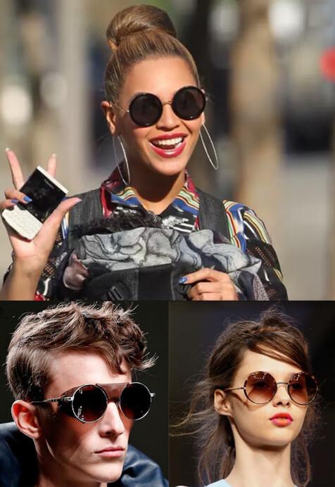 Очки в круглой оправе, Cолнцезащитные очки модные в 2019