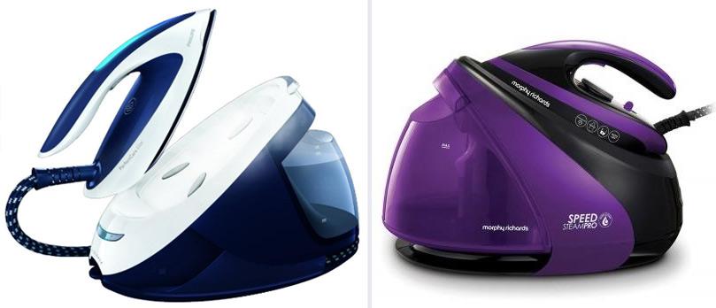 Утюг с парогенератором Morphy Richards S-Pro Violet 332100 и парогенератор Philips PerfectCare Elite GC9635