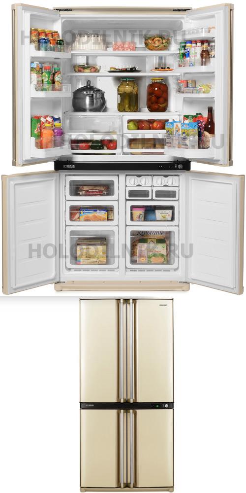 Sharp SJ-F95STBE - самый лучший холодильник, Лучшие холодильники 2019. Какой холодильник лучше купить