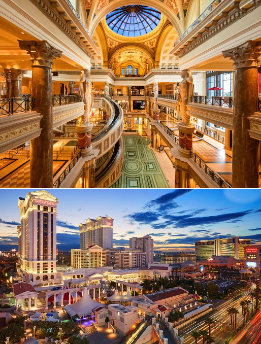 Дворец Цезаря, Лас-Вегас, Caesars Palace, Самые большие и красивые казино мира
