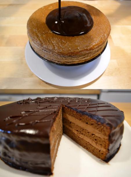 торт Прага, Популярные торты. Самые вкусные торты мира. Фото и история.