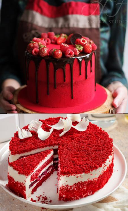 Красный Бархат, Популярные торты. Самые вкусные торты мира. Фото и история.