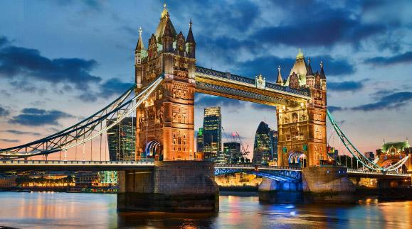 Тауэрский мост. достопримечательности Англии
