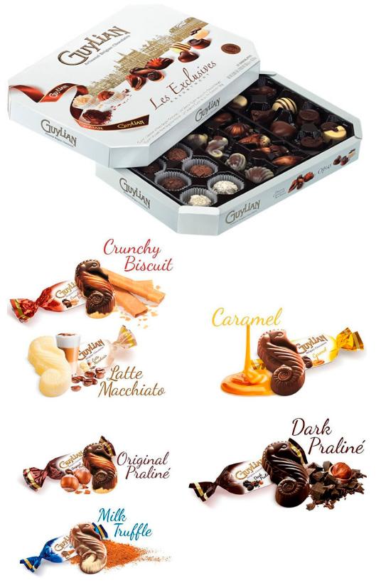Guylian, Лучшие конфеты
