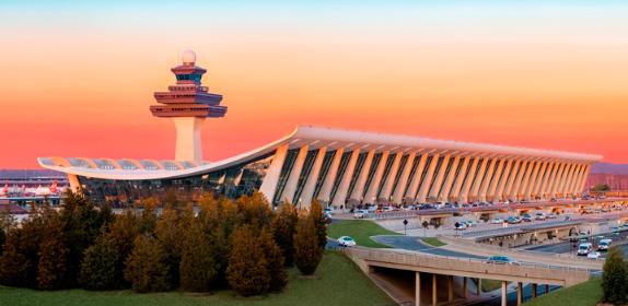 Аэропорт ВашингтонДаллес: 48 км², Самые большие аэропорты мира