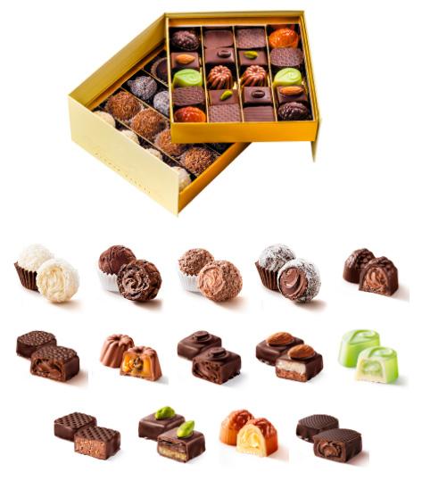 Коллекция из Трюфелей №2 Голд, Лучшие конфеты