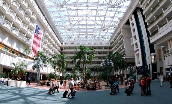 Аэропорт Орландо: 53 км², Самые большие аэропорты мира