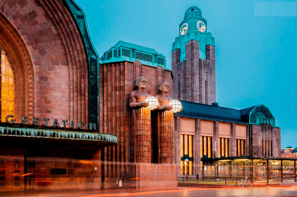 Самые красивые вокзалы мира. Вокзал в Хельсинки.